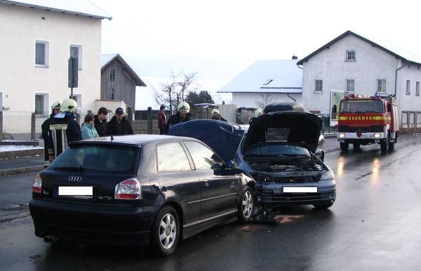 Verkehrsunfall in Ortsmitte